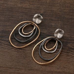 Urban Outfitters Jewelry - Mixed color metal drop earrings